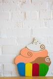Торты сделанные из бумаги на белой предпосылке Стоковые Фото