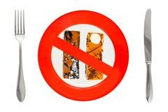 торты dieting знак плиты Стоковое фото RF