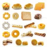Торты donuts хлеба изолированные на белизне Стоковые Фото