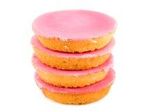 торты pink штабелировано Стоковое Фото