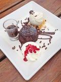 Торт лавы шоколада Стоковое фото RF