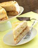 Торт банана с карамелькой Стоковое Изображение