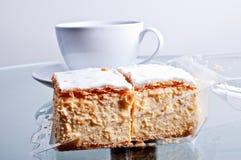 торт близкий napoleon вверх Стоковое Фото
