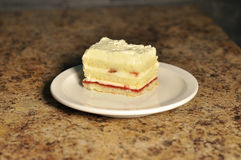 Торт ванили и клубники Стоковое фото RF