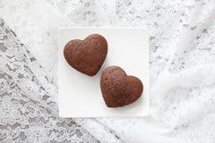Торт валентинки шоколада Стоковое Изображение