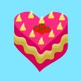 Торт валентинки Стоковые Изображения RF