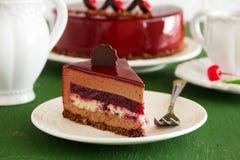 Торт вишни шоколада Стоковое Фото