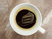 Торт в пене кофе Стоковая Фотография