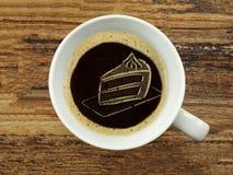 Торт в пене кофе Стоковые Фото