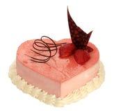 Торт в форме сердца с очень Стоковые Изображения RF