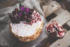 Торт гранатового дерева Стоковая Фотография