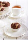 Торт груши и шоколада Стоковая Фотография