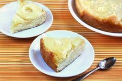 Торт губки с ананасом Стоковые Фото
