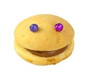 Торт губки с глазами Стоковое Изображение RF