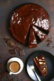 Торт губки шоколада Взгляд сверху Стоковое Изображение RF