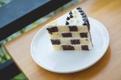 Торт губки шоколада и масла Стоковые Изображения RF