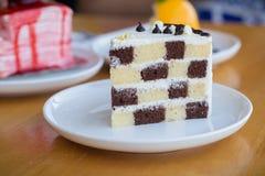 Торт губки шоколада и масла Стоковое Изображение RF
