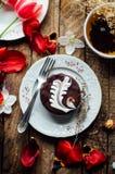 Торт губки шоколада свеже испеченное типа пирожн острословие торта губки Стоковая Фотография