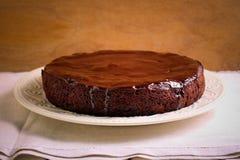 Торт губки шоколада Стоковые Фото