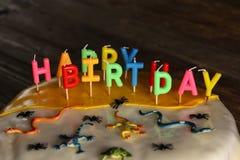 Торт для дня рождения стоковое изображение