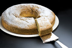 Торт еды ангела стоковая фотография