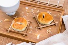 Торт жены печенья возлюбленного в фарфоре стоковое фото