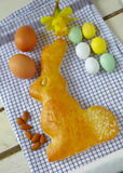 Торт зайчика пасхи Стоковые Фото