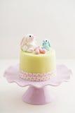 Торт зайчика пасхи Стоковые Изображения