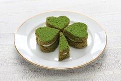 Торт зеленого цвета Shamrock Стоковые Фото
