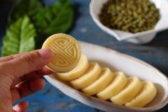 Торт зеленых фасолей Стоковое Фото