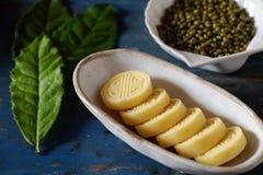Торт зеленых фасолей Стоковая Фотография