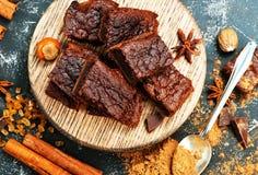 Торт и бурый порох Стоковое Изображение