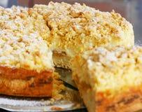 Торт или пирог абрикоса Стоковые Изображения