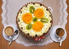 Торт и кофе Стоковое фото RF