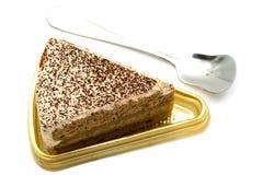 Торт и ложка кофе Стоковые Изображения RF