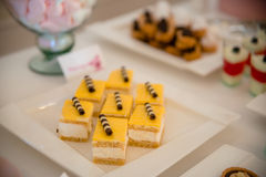 Торт и печенья Стоковое Фото