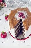 Торт карамельки зимы стоковая фотография