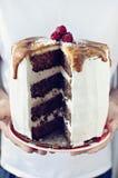 Торт карамельки зимы стоковое изображение