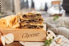 Торт квадрата сыра Стоковая Фотография RF