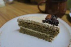 Торт кофе на блюде стоковые изображения