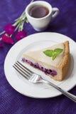 Торт кофе с голубиками стоковая фотография rf