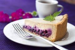 Торт кофе с голубиками Стоковые Фотографии RF