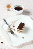 Торт кофе шоколада ` оперы ` Стоковые Фотографии RF