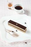 Торт кофе шоколада ` оперы ` Стоковая Фотография RF
