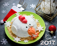 Торт крана торта петуха, торт курицы, торт цыпленка, торт птицы - fe Стоковые Фото