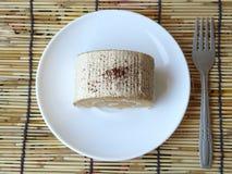 Торт крена сливк капучино Стоковые Изображения RF