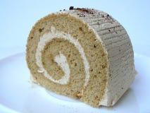 Торт крена сливк капучино Стоковые Фото