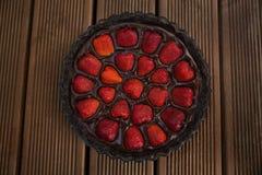 торт Клубник-шоколада Стоковое Фото