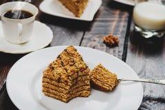 Торт меда десерта Стоковые Фотографии RF