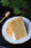Торт меда с сметаной стоковая фотография rf